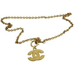 Chanel Vintage Golden metal Double C necklace