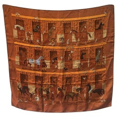 Hermes Les Boxes Silk Scarf, circa 2008