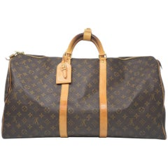 Louis Vuitton Keepall 55 Monogram Duffle Bag