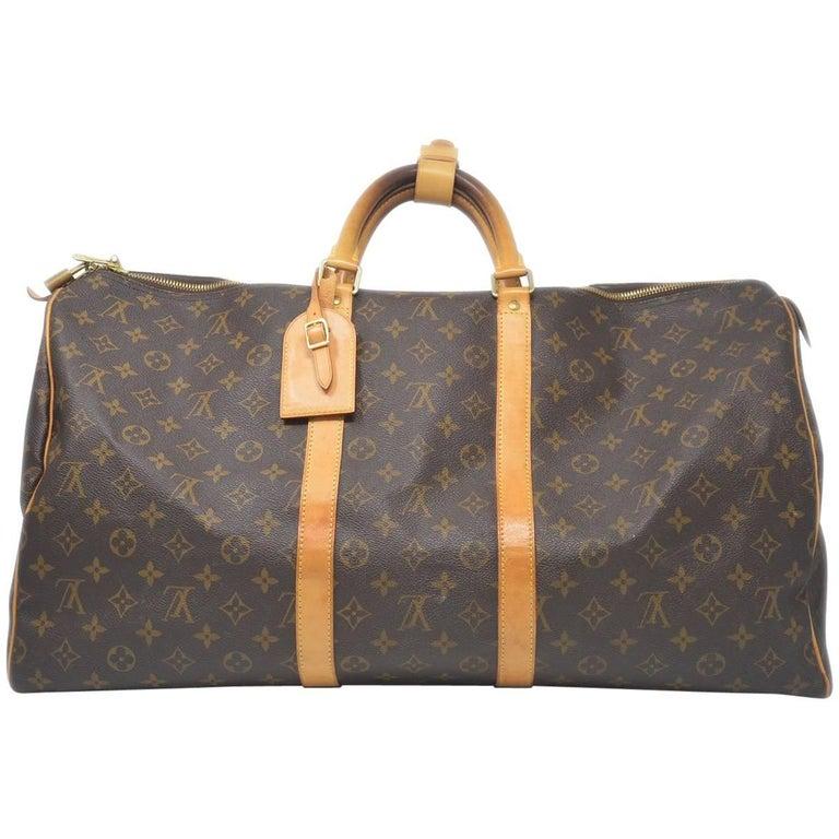 Louis Vuitton Keepall 55 Monogram Duffle Bag For