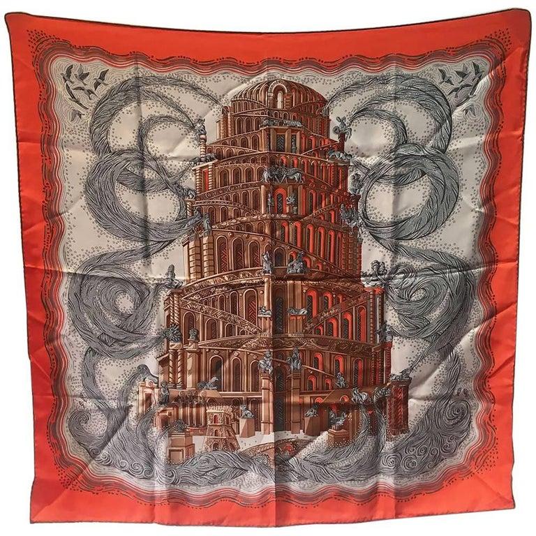 Hermes Rivieres de Babel Silk Scarf