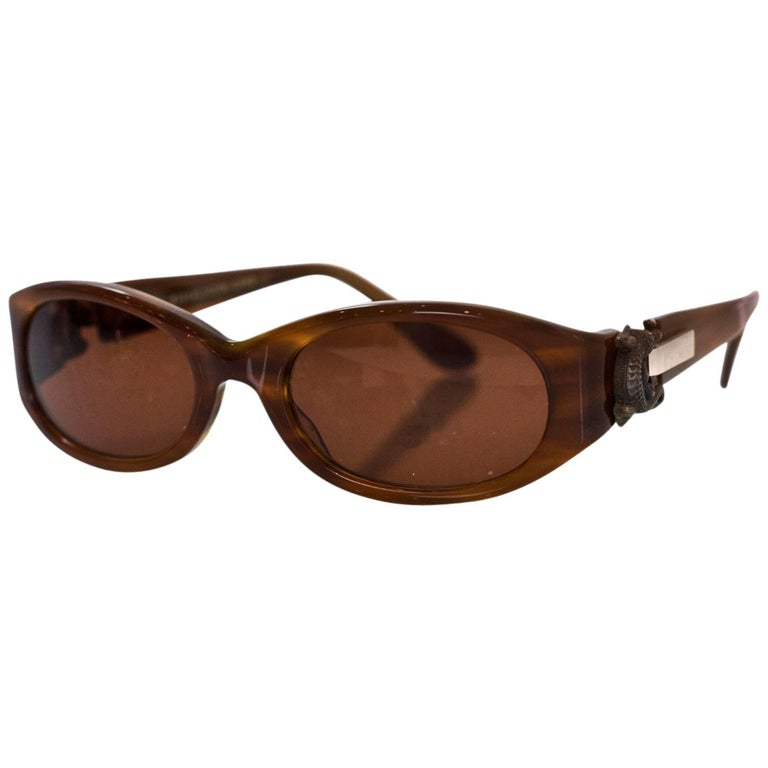 Kieselstein-Cord Brown Surrender Sunglasses with Case