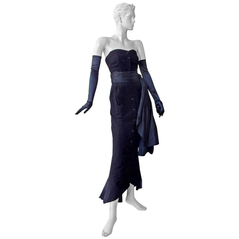 Christian Dior Haute Couture Milieu de Siecle Dinner Dress Fall/Winter 1949-1950