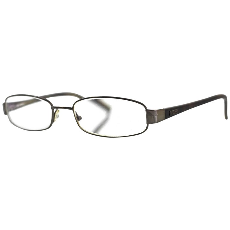 Gucci Tortoise & Silvertone Prescription Eyeglasses with Case