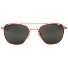 MICHAEL BASTIAN x Randolph Engineering Red Metal Aviator Sunglasses
