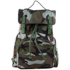 Valentino Top Flap Backpack Camo Nylon Large