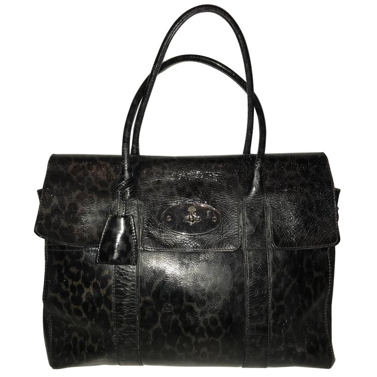 06f52d316bca A Mulberry bayswater satchel bag in leopard print patent leather ...