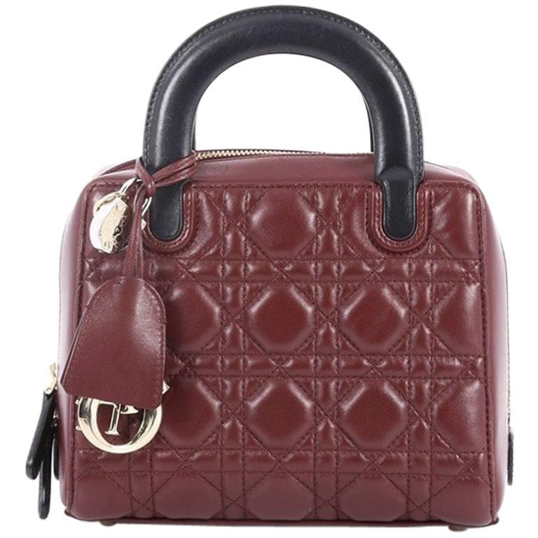 d78653e3c9c1 Christian Dior Lily Bowling Bag Cannage Quilt Lambskin Mini at 1stdibs