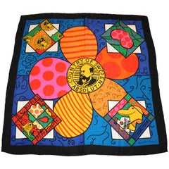 Romero Britto for Absolut Large Limited Edition Silk Crepe de Chine Scarf