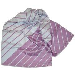 Vera Lavender & Gray Multi-Stripe Scarf