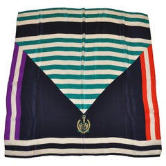"Liz Claiborne Multi-Color ""Regal"" Silk Scarf"