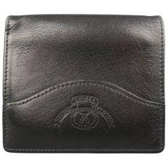 Ghurka Men's Black Logo Embossed Leather Bifold Wallet