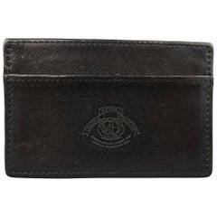 Ghurka Vintage Men's Black Leather Embossed Card Case