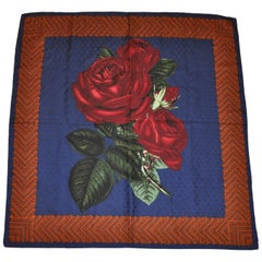 "Perry Ellis ""Portrait of Roses"" Textured Silk Jacquard Scarf"