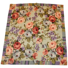 "Adrienne Vittadini Multi-Color of ""Floral in Full Bloom"" Silk Scarf"