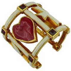 Christian Lacroix Vintage Enamel Cuff Bracelet