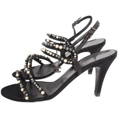 Chanel Heeled Sandals - black