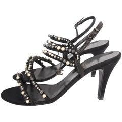 Chanel Heeled Sandals - black