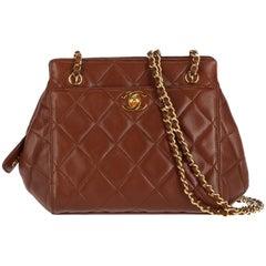 Chanel Brown Leather Vintage Bag, 1980s