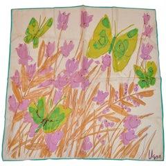 """Vera """"Butterflies Among Garden"""" Scarf"""