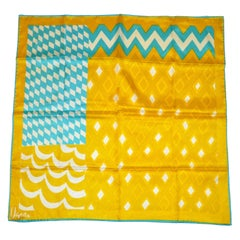 Vera Emerald, Gold & Ivory Bold Abstract Scarf