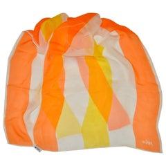 Vera Tangerine, White & Yellow Chiffon Scarf