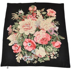 "Echo ""Bursting Floral"" Black and Multicolor Silk Scarf"