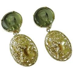 Bronze earrings with Murano glass by Patrizia Daliana