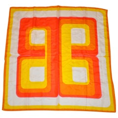 "Bright & Colorful ""Mod"" Print Scarf"