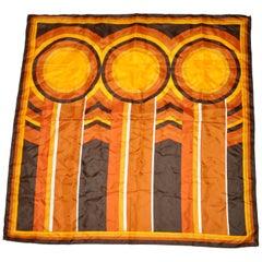 "Bold Shades of Brown & Golden ""Circular Stripes"" scarf"
