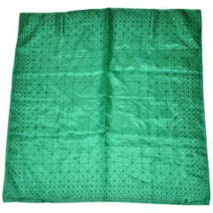 Vera Emerald Green with Black Etching Scarf
