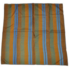 "Vera Multicolor Striped ""Lizard"" Print Silk Scarf"