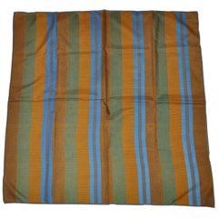 """Vera Multicolor Striped """"Lizard"""" Print Silk Scarf"""