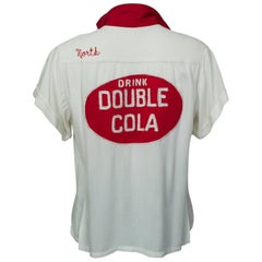 "King Louie Double Cola Bowling Shirt Embroidered ""Lucille"", 1950s"