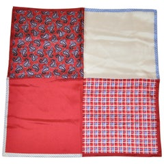 Multi-Color Palsey, Plaid & Solid Silk Handkerchief
