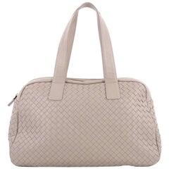 Bottega Veneta Zip Boston Bag Intrecciato Nappa Medium