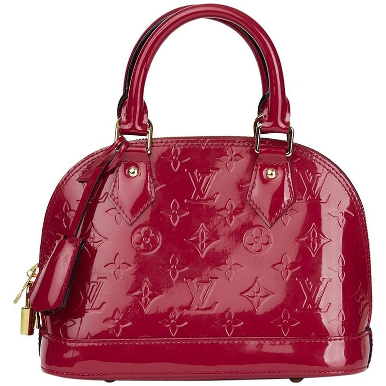 2014 Louis Vuitton Indian Rose Vernis Leather Alma BB