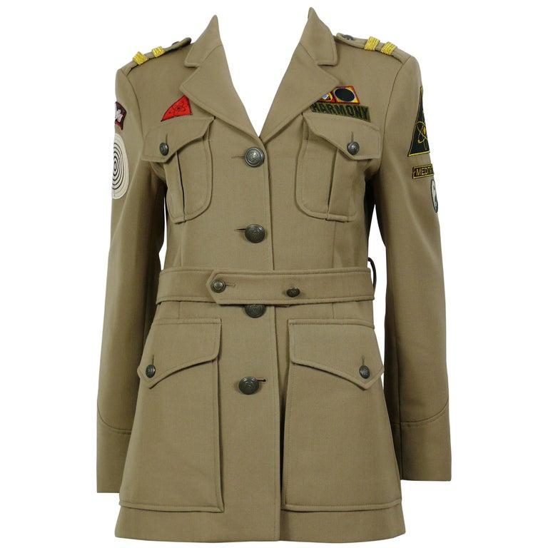 Moschino Vintage Military Style Harmony Jacket