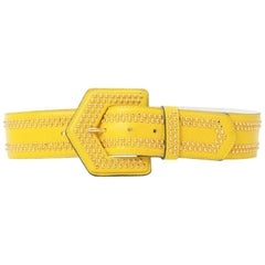 Yves Saint Laurent Yellow Leather Belt