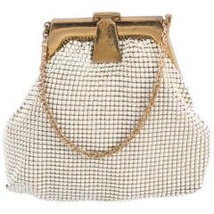 Ivory Whiting & Davis Beaded Evening  Bag