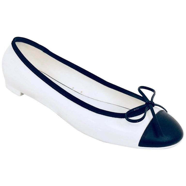 Constantly Chanel Black & White Jelly Ballerina Flats