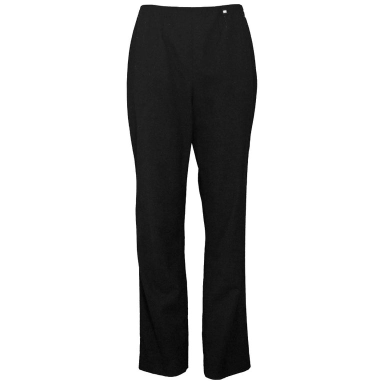 Chanel Charcoal Wool Pants Sz FR42