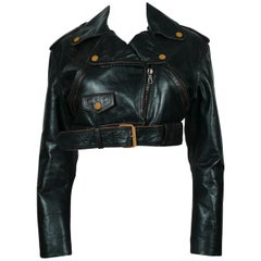 Jean Paul Gaultier Vintage Cropped Biker Jacket