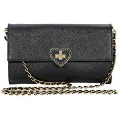 Prada Saffiano Black Leather Crossbody Bag