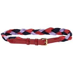 Louis Vuitton Red and Purple Braided Belt
