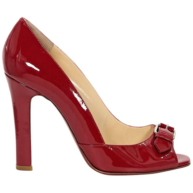 Red Christian Louboutin Patent Leather Pumps
