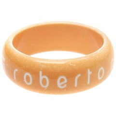 "Roberto Cavalli ""Class"" Orange Bangle"