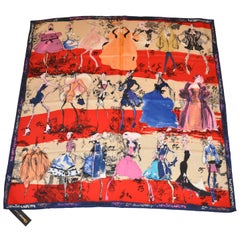 "Christian Lacroix ""20 Years of Fashion"" Silk Jacquard Scarf"