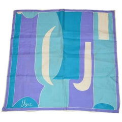 """Vera """"Shades of Blues, Lavender & White Abstract Scarf"""""""