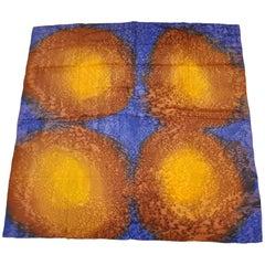 """Multi """"Sun & Sky"""" Detailed Tie-Dyed Silk Jacquard Scarf"""